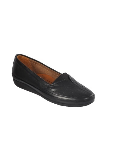 Ayakmod 103 Hakiki Deri Krem Kadın Günlük Ayakkabı Siyah